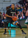 26 January 2014: Binghamton University Bearcat Forward Magnus Richards, a Freshman from Silver Spring, MD, in action against the University of Vermont Catamounts at Patrick Gymnasium in Burlington, Vermont. The Catamounts defeated the Bearcats 72-39. Mandatory Credit: Ed Wolfstein Photo *** RAW (NEF) Image File Available ***