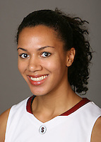 STANFORD, CA - OCTOBER 9:  Rosalyn Gold-Onwude of the Stanford Cardinal women's basketball team poses for a headshot on October 9, 2008 in Stanford, California.