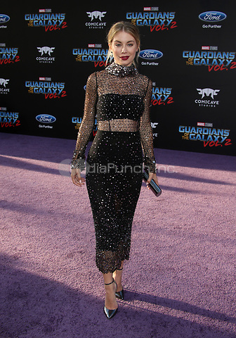 """HOLLYWOOD, CA - April 19: Jennifer Holland, At Premiere Of Disney And Marvel's """"Guardians Of The Galaxy Vol. 2"""" At The Dolby Theatre  In California on April 19, 2017. Credit: FS/MediaPunch"""