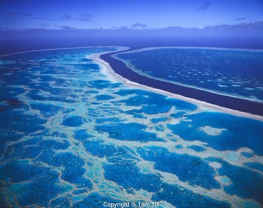 Hardy Reef, Great Barrier Reef Marine Park, Queensland, Australia  Aerial view   Pacific Ocean Coral Sea  UNESCO World Heritage Site