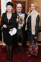 """NO REPRO FEE. 17/1/2010. The Field opening night. Joan Bergin, Colm Tobin and Rosin Agnew are pictured at the Olympia Theatre for the opening night of John B Keanes 'The Field"""" Picture James Horan/Collins"""