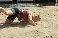 FIERLJEPPEN: GRIJPSKERK: 27-08-2016, Nederlands Kampioenschap Fierljeppen/Polsstokverspringen, Jaco de Groot, ©foto Martin de Jong