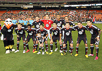 Starting eleven of D.C. United during an MLS match against the San Jose Earthquakes at RFK Stadium in Washington D.C. on October 9 2010. San Jose won 2-0.