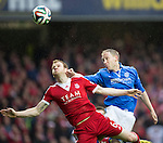 St Johnstone v Aberdeen...13.04.14    William Hill Scottish Cup Semi-Final, Ibrox<br /> Steven Anderson and Mark Reynolds<br /> Picture by Graeme Hart.<br /> Copyright Perthshire Picture Agency<br /> Tel: 01738 623350  Mobile: 07990 594431