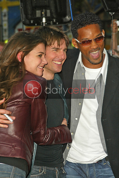 Katie Holmes, Tom Cruise and Will Smith<br />