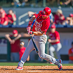 4 March 2016: St. Louis Cardinals outfielder Charlie Tilson in action during a Spring Training pre-season game against the Houston Astros at Osceola County Stadium in Kissimmee, Florida. The Cardinals fell to the Astros 6-3 in Grapefruit League play. Mandatory Credit: Ed Wolfstein Photo *** RAW (NEF) Image File Available ***