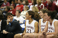 20 March 2006: Karen Middleton, Rosalyn Gold-Onwude, Brooke Smith, Jillian Harmon during Stanford's 88-70 win over Florida State in the second round of the NCAA Women's Basketball championships at the Pepsi Center in Denver, CO.