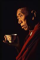 Monk in Pokhara, nepal, 1990