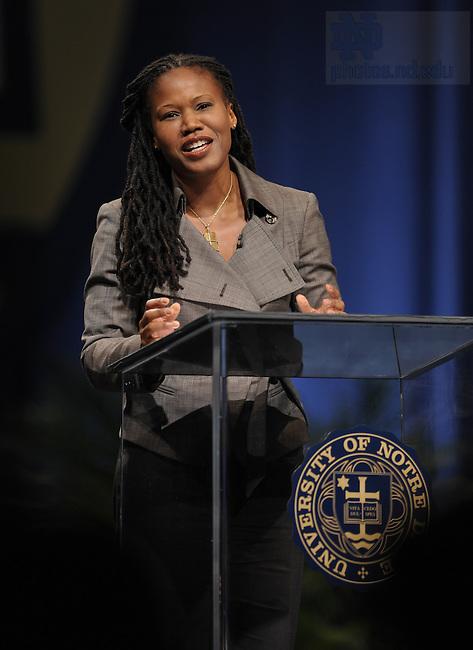 2008 Notre Dame Forum Panelist Majora Carter speaks...Photo by Matt Cashore/University of Notre Dame