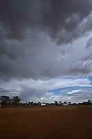 Storm clouds in the Australian outback