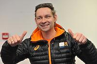 SCHAATSEN: HEERENVEEN: 29-01-14-2013, IJsstadion Thialf, Perslunch Schorttrack Olympische selectie, Jeroen Otter (trainer/coach), ©foto Martin de Jong