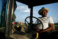 Mississippi farmer on tractor