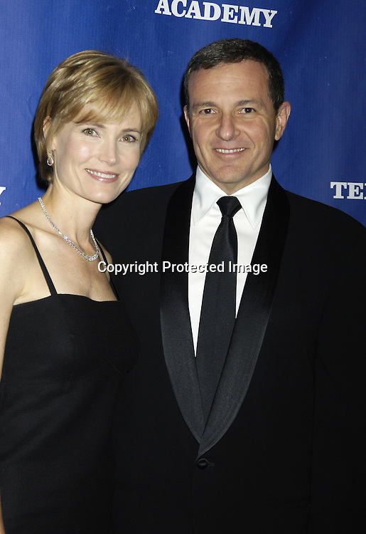 Robert Iger , CEO of The Walt Disney Corporation and wife ..Willow Bay  ..at The National Television Academy Dinner Honoring Robert Iger on October 20, 2005 at The Marriott Marquis Hotel. ..Photo by Robin Platzer, Twin Images