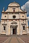 Basilica della Madonna di Tirano church; the church is dedicated to the appearance of the Virgn to Mario Degli Omodei in 1504 and located in Tirano, Italy