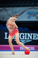 September 07, 2015 - Stuttgart, Germany - JAZZY KERBER  of USA performs in AA qualifications at 2015 World Championships.