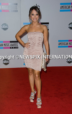 "CHERYL BURKE.American Music Awards 2010,Nokia Rheatre, Los Angeles_21/10/2010.Mandatory Photo Credit: ©Dias/Newspix International..**ALL FEES PAYABLE TO: ""NEWSPIX INTERNATIONAL""**..PHOTO CREDIT MANDATORY!!: NEWSPIX INTERNATIONAL(Failure to credit will incur a surcharge of 100% of reproduction fees)..IMMEDIATE CONFIRMATION OF USAGE REQUIRED:.Newspix International, 31 Chinnery Hill, Bishop's Stortford, ENGLAND CM23 3PS.Tel:+441279 324672  ; Fax: +441279656877.Mobile:  0777568 1153.e-mail: info@newspixinternational.co.uk"