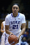 29 January 2015: Duke's Kendall Cooper. The Duke University Blue Devils hosted the University of Pittsburgh Panthers at Cameron Indoor Stadium in Durham, North Carolina in a 2014-15 NCAA Division I Women's Basketball game. Duke won the game 62-45.