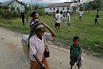 Daily life in the Ermera district village of Fatuquero..Timor-Leste