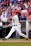 16 June 2006: Jose Vidro, second baseman for the Washington Nationals, in action against the New York Yankees at RFK Stadium, in Washington, DC. The Yankees defeated the Nationals 7-5 in the first meeting of the two franchises...Mandatory Photo Credit: Ed Wolfstein Photo...
