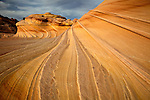 Swirling rock formation in North Coyote Buttes, Arizona