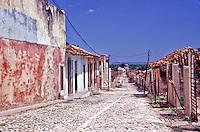 Trinidad Cuba, Cobblestone Street, houses, architecture, Exterior, day
