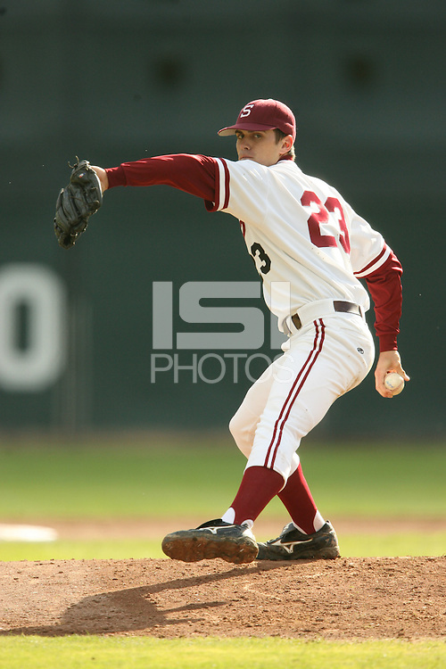 13 February 2007: Brandt Walker during Stanford's 5-1 exhibition win over Rikkio University at Sunken Diamond in Stanford, CA.