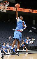 C/F Derrick Favors (Atlanta, GA / South Atlanta) shoots the ball during the NBA Top 100 Camp held Saturday June 23, 2007 at the John Paul Jones arena in Charlottesville, Va. (Photo/Andrew Shurtleff)