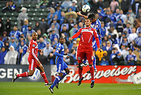 Julio Martinez #6, Roger Espinoza...Kansas City Wizards played to a 2-2 tie with Chicago Fire at Community America Ballpark, Kansas City, Kansas.