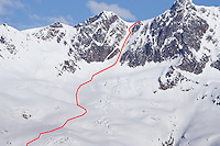 2920 m, Amérique du Nord, Canada, Canada > Amérique du Nord, CMH, CMH Steep Camp, Colombie Britanique, extrem ski, long 1160, North America, Ski extrème, Ski extrème en couloir, Steep Camp 2009, Val Halla