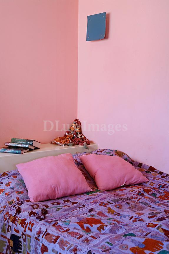 contemporary pink bedroom