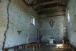 "Bradwell on Sea. Interior ""St Peter on the Wall"" church. Celtic Chapel. Essex.  UK 2008."