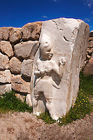 Photo of the Hittite releif sculpture on the Kings gate to the Hittite capital Hattusa 3