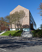 Aarhus University's Business School Building S (Handelshøjskolen), Denmark. Architect: Cubo Arkitekter A/S. Engineer, Søren Jensen