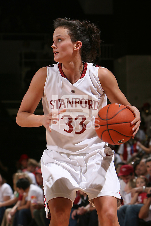 STANFORD, CA - NOVEMBER 23:  Jillian Harmon of the Stanford Cardinal during Stanford's 81-47 win over Rutgers on November 23, 2008 at Maples Pavilion in Stanford, California.