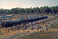 WATKINS GLEN, NY - OCTOBER 5: Formula 1 cars assemble on the grid prior to the start of the United States Grand Prix at the Watkins Glen Grand Prix Race Course near Watkins Glen, New York, on October 5, 1969.
