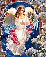 Christmas - angels paintings