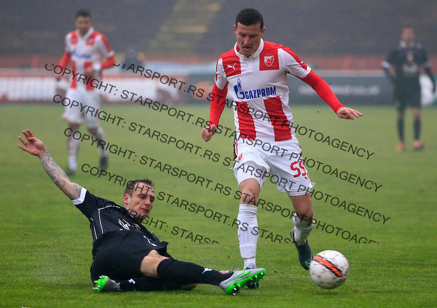 Fudbal Jelen Super League season 2015-2016<br /> Crvena Zvezda v Vozdovac<br /> Slavoljub Srnic and Marko Jovanovic (L)<br /> Beograd, 28.11.2015.<br /> foto: Srdjan Stevanovic/Starsportphoto&copy;