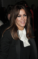 Caroline Flack spotted arriving at Somerset House, London on 15 February for the PPQ event which was part of London Fashion Week  LFW  Autumn Winter 2013 AW13 Show. Paparazzi Photos