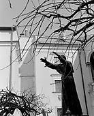 Krakow, Poland, March 9, 2011:.The pope John Paul 2 monument in central Cracow.. (Photo by Piotr Malecki / Napo Images)..Krakow, 9/03/2011:.Pomnik papieza Jana Pawla II pod budynkiem kurii..Fot: Piotr Malecki / Napo Images