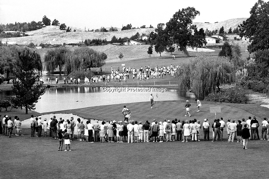 Third hole at Round Hill CC during the LPGA golf tournament 1970's..(photo/Ron Riesterer)