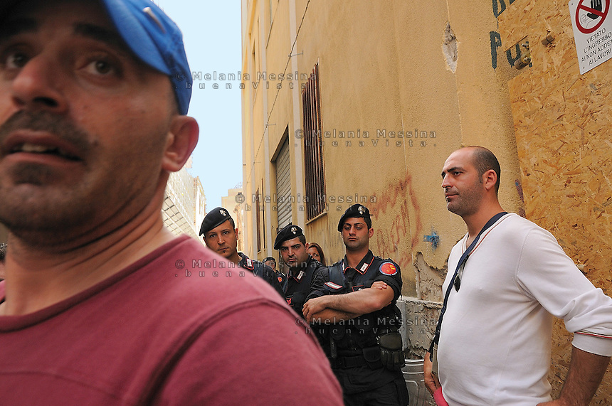 Palermo, sgomberi delle famiglie senza tetto.<br />