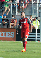 August 18, 2012: Toronto FC forward Eric Hassli #29 in action during an MLS game between Toronto FC and Sporting Kansas City at BMO Field in Toronto, Ontario Canada..Sporting Kansas City won 1-0.