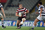 Matt Talese makes a run between Josh Townsend and Charlie Faumuina. ITM Cup Round 7 rugby game between Auckland and Counties Manukau, played at Eden Park, Auckland on Thursday August 11th..Auckland won 25 - 22.