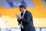 St Johnstone v Ross County...17.08.13 SPFL<br /> Tommy Wright applauds at full time<br /> Picture by Graeme Hart.<br /> Copyright Perthshire Picture Agency<br /> Tel: 01738 623350  Mobile: 07990 594431