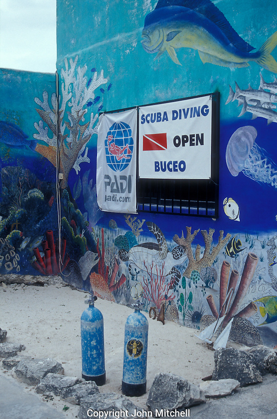 Stock photo of puerto morelos quintana roo mexico john - Dive shop mexico ...