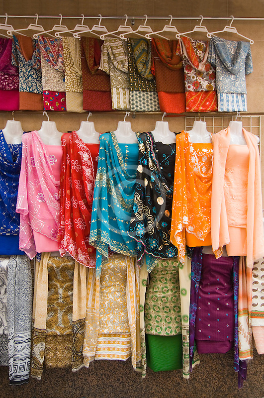 United Arab Emirates, Dubai, Dresses for sale in the Souq
