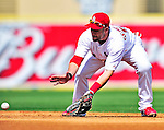 10 March 2010: St. Louis Cardinals' outfielder Skip Schumaker in action during a Spring Training game against the Washington Nationals at Roger Dean Stadium in Jupiter, Florida. The Cardinals defeated the Nationals 6-4 in Grapefruit League action. Mandatory Credit: Ed Wolfstein Photo