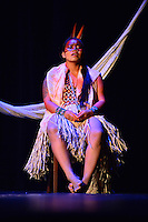 MIAMI, FL - SEPTEMBER 29: Hukena performs during the Journey to Mutum: A Cultural Encounter with the Yawanaw· Tribe of the Brazilian Amazon at Miami Theater Center on September 29, 2016 in Miami, Florida. Credit: MPI10 / MediaPunch