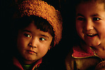Uighur children, Xinjiang region, China