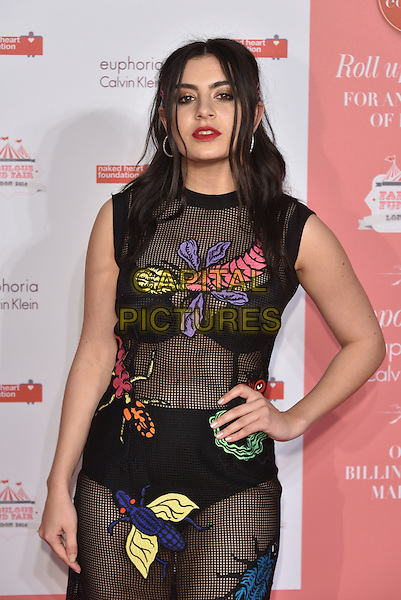Charli XCX<br /> arrivals at London's Fabulous Fund Fair 2016 in aid of the Naked Heart Foundation at Old Billingsgate Market on 20th February 2016.<br /> CAP/PL<br /> &copy;Phil Loftus/Capital Pictures